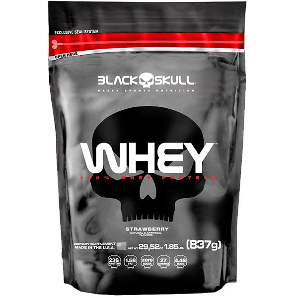 43f1412518 Whey 100 % - refil com 837 gramas - Black Skull - Soares Suplementos