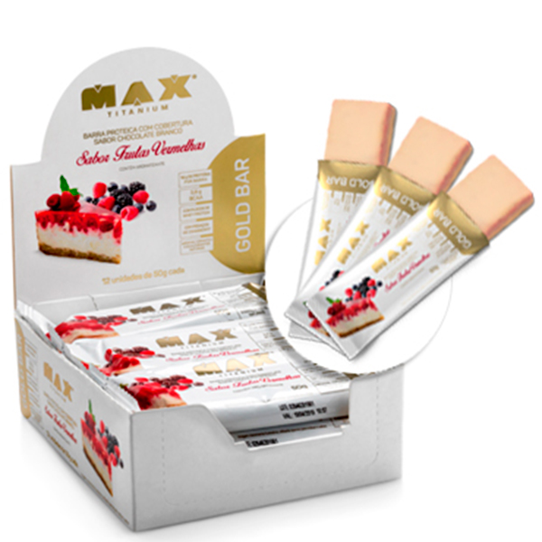 3fdcbdc70 Gold bar - caixa com 12 unidades - Max Titanium - Soares Suplementos